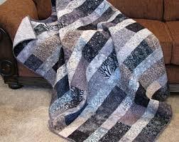 Lap quilt | Etsy & Quilts for Sale - Quilt - Lap Quilt, Sofa Quilt, Quilted Throw, Batik Adamdwight.com