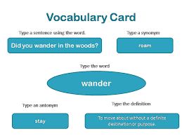 vocab cards with pictures vocabulary cards
