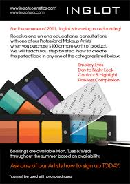 get one on one makeup cles from inglot s pro makeup artists