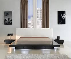 modern platform bed with lights. Modern Queen Platform Bed With Lighting CR908 Lights A