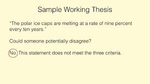 creating an arguable thesis statement