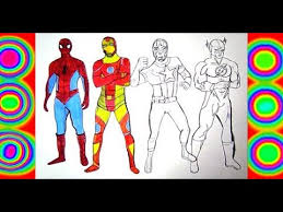 Play more iron man games online at heroesarcade.com. Spiderman Iron Man Captain America Flash Coloring Pages Superheroes Youtube