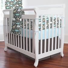 perfect gray zoology 3 piece mini crib bedding set grey mini crib