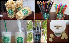 Decorating Plastic Tumblers Diy Room Decorations Containers Using Starbucks Cups Youtube