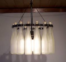 diy bottle chandeliers