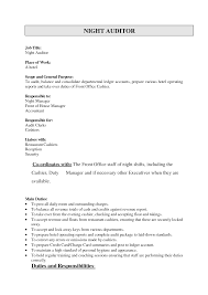 Night Auditor Resume Best Template Collection