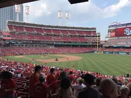 Great American Ball Park Section 136 Home Of Cincinnati Reds