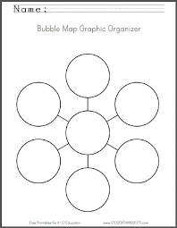 Web Chart Template Free Bubble Map Free Printable Worksheet Student Handouts