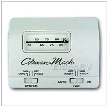 coleman mach rv thermostat wiring diagram coleman thermostat standard analog 12v 6 wire heat cool coleman 7330g3351 on coleman mach rv thermostat wiring
