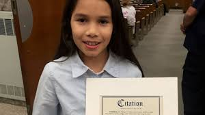 Diana Loveras, 10, honored for heroics in Valley Stream fire | Newsday