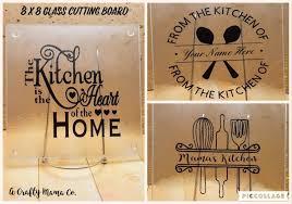 glass cutting board collage