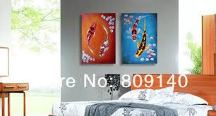 feng shui paintings for office. Oil Painting On Canvas Feng Shui Koi Fish High Quality Handmade Modern Home Office Hotel Wall Paintings For