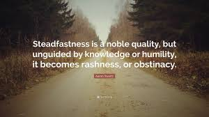 Aaron Swartz Quote Steadfastness Is A Noble Quality But Unguided