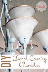 diy french country chandelier take a builder grade light fixture and make it awesome
