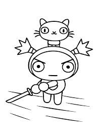 Pucca Cartoon Coloring Pages For Kids