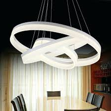 chandeliers chandelier for restaurant modern white color round ring circular acrylic led foyer bedroom dinning