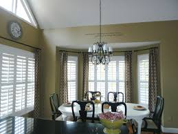 Kitchen Window Curtain Panels Bay Window With Plantation Shutters And Curtains For The Home