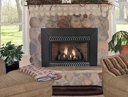 empire the innsbrook vent free fireplace insert medium w slope glaze burner
