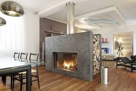 stand alone fireplace design with modern glass door for modern house