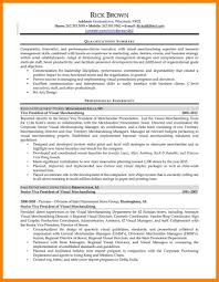 11 Visual Merchandising Resume Job Apply Form Samples Sample 14
