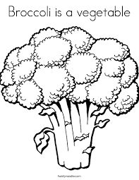 Small Picture Broccoli is a vegetable Coloring Page Twisty Noodle