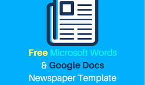 Microsoft Newspaper Template Free 25 Free Google Docs Newspaper And Newsletter Template For