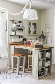 17 Best images about Home: Craft Space Inspiration on Pinterest ... Craft  Room Organization - craft room - great mini island for storage