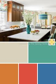 bright color palette colorful kitchen interiors by the sewing room bright colorful home
