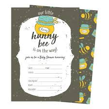 Baby Shower Invitation Cards Bee 1 Bumble Bee Baby Shower Invitations Invite Cards 25 Count With Envelopes Seal Stickers Vinyl Girl Boy
