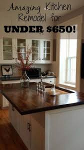 Creative diy easy kitchen makeovers Cheap Stunning Kitchen Makeover On Budget Dream Kitchen it Even Has Fireplace Pinterest Diy Kitchen Makeover For Under 650 In 2019 Kitchen Decorating