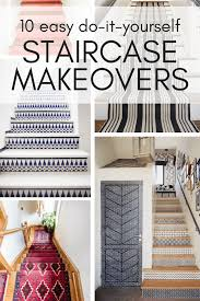 great diy staircase makeover ideas that you can try in your home this weekend