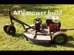 just look up homemade pull behind mowers lots of ideas there