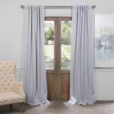 blackout curtains pair. Interesting Curtains Exclusive Fabrics U0026 Furnishings SemiOpaque Fog Grey Blackout Curtain  50  In W Inside Curtains Pair R