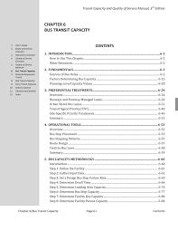 Design Capacity Chapter 6 Bus Transit Capacity Transit Capacity And