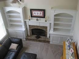 built bookcases around fireplace diy added bookshelves