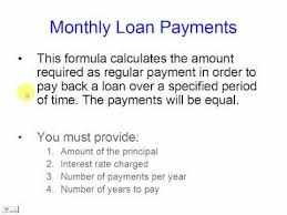 Calculate Loan Payment Review This Formula And Code It