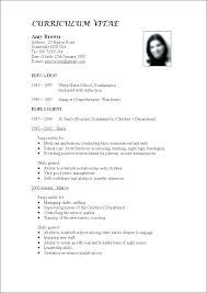 Resume For Teaching Job Sample Resume For Preschool Teacher
