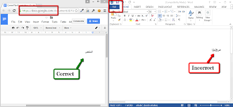 arabic text shows in wrong direction in word but not google docs duplicate