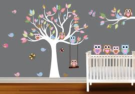 image of baby wall decals for nursery on tree wall art baby nursery with wall decals for nursery rooms design bisita guam design