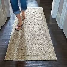 26 x72 runner plush cotton non slip washable rug scroll pattern