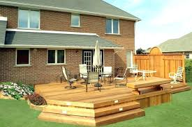 Backyard Deck Design Ideas Mesmerizing Elevated Deck Design Ground Level Deck Ideas Ground Level Decks Low