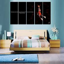 Large Painting For Living Room 5 Pcs For Michael Jordan Large Seaview With Frame Canvas Print