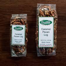 caramel pecan logs