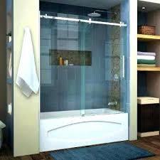 marvelous bathtub shower curtain or glass door enigma tub vs doors over