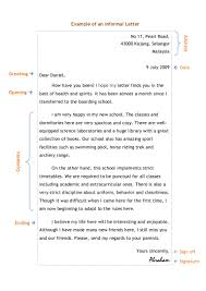 Informal Letter Writing Example