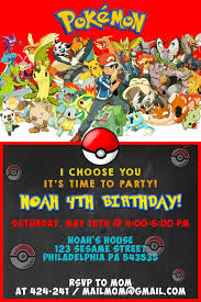 Printable Pokemon Party Invitations Download Them And Try To Solve