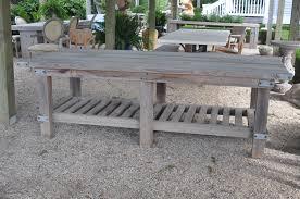 Kitchen Work Table Wood Cypress Wood Kitchen Work Table Mecox Gardens