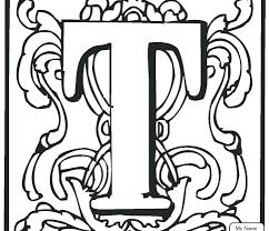 Letter T Coloring Pages Parenttalkclub