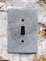 Gray Light Switch Covers Light Switch Cover Gray Natural Slate Stone Rustic Cottage