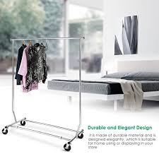 Commercial Coat Racks On Wheels TomCare Garment Rack Adjustable Clothes Rack Clothing Rack 68